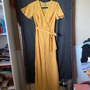 NWT XS Yellow polka dot jumpsuit